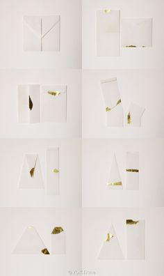 设计   香港设计师furze chan设计的一套15枚几何形状的信封,喜欢点金妙笔。
