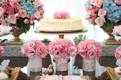 Shabby Chic themed 3rd birthday party via Kara's Party Ideas KarasPartyIdeas.com #shabbychicparty (23)