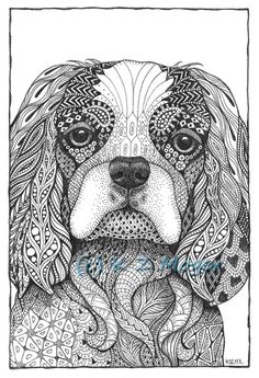 Small and Medium Breed Dogs matted print- 9 breeds to choose from