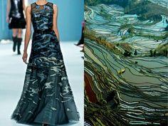 Rice field fashion & nature photo collage by Liliya Hudyakova
