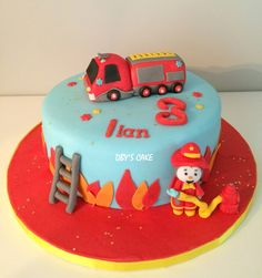 Gâteau Tchoupi pompier