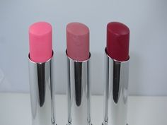 Maybelline Color Whisper Lipstick: Petal Rebel (light pink), Lust for Blush, Berry Ready