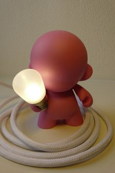 Cool lamp made from a Munny.
