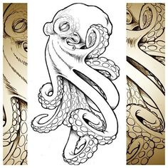 Image result for neo traditional octopus tattoo