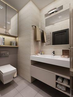 Фото - дизайн ванной комнаты - Минимализм #bath_design #bath