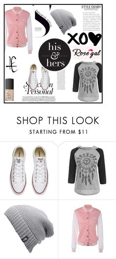 """""""Rosegal 34"""" by selmaaaa-1 ❤ liked on Polyvore featuring Converse, The North Face and NARS Cosmetics"""