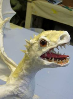 PAPER MACHE BLOG: Dani's (or Danny's) Paper Mache Dragon Babies- wings, assembly