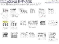 20130925 Sketchnote Lessons - Adding Emphasis