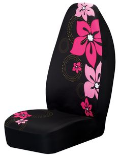 Hot Pink Flower Car Seat Cover Girly Car Accessory  sc 1 st  Pinterest & Girly Angel Wing Rhinestone Car Seat Cover | Car Stuff | Pinterest ... markmcfarlin.com