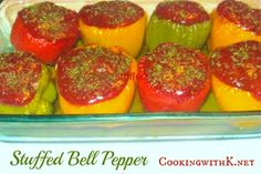 Cooking with K - Southern Kitchen Happenings: Stuffed Bell Peppers {Granny's Recipe}