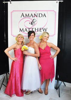 David's Bridal. Photo booth customizable back drop.