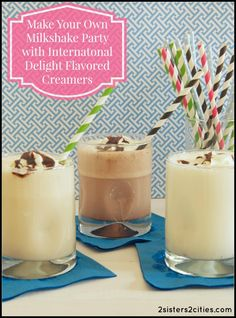 Sponsored: Make Your Own Milkshake Party- have every participant pick out their own ice cream and International Delight flavored creamer combination! {from 2 Sisters 2 Cities} #idelight @indelight