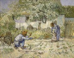 One of my favorite paintings. It was randomly in my room when I studied in Spain, and now it hangs in my room at home.   Vincent van Gogh: First Steps, after Millet (64.165.2) | Heilbrunn Timeline of Art History | The Metropolitan Museum of Art