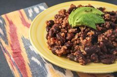 Sunday Slow Cooker: Red Beans and Rice, 200 calories, 6 weight watchers points plus