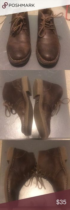 Brown leather shoes Size 8m. Men's brown leather upper Dockers shoes. Only worn a few times. Great condition. Dockers Shoes Chukka Boots