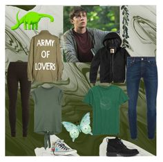 """""""nick"""" by fangirled on Polyvore featuring Ryan Roche, Isabel Marant, Hollister Co., Alexander McQueen, United by Blue, SET, Converse and Dries Van Noten"""