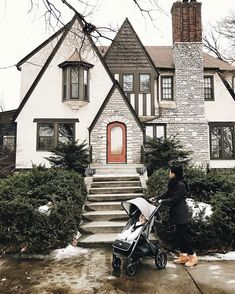 I had never seen a Tudor house in person until I moved to Minneapolis. They have a special charm about them and each is never the same. Dream Home Design, My Dream Home, House Design, Tudor House Exterior, Tudor Style Homes, Tudor Homes, Cute House, Sims House, Cottage Homes