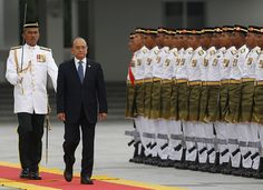 #Myanmar's President Thein Sein during a welcoming ceremony at the parliament building in #KualaLumpur. http://www.abo.net/en_IT/publications/reportage/myanmar/myanmar.shtml