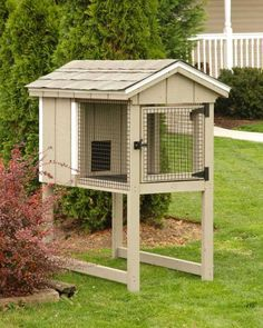Rabbit Hutch! I need this too! Now if I can convince my husband to build it......