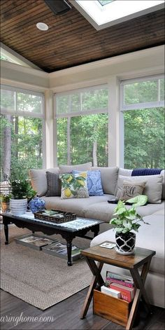 3 Seasons Room Relaxing Living Room Design Ideas For Outdoor Teens and Credit Cards Sunroom Decorating, Sunroom Ideas, Decorating Ideas, Porch Ideas, Decor Ideas, Rustic Sunroom, Small Sunroom, Patio Ideas, Back Porch Designs