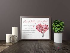 DIYWedding / Tlačené svadobné oznámenie Love Tree