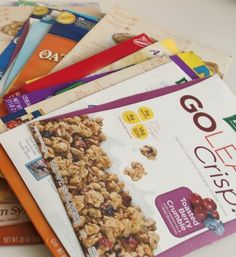 Craft Tip: Cereal Boxes into Fabric Bolts