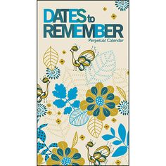 Dates to Remember Perpetual Wall Calendar