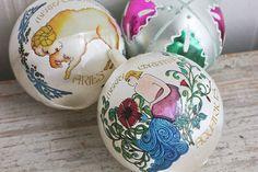 Zodiac Ornaments, Christmas Ornaments, Bradford Exchange, Aquarius, Aries, Vintage Ornaments, Retro Christmas, Astrological, Christmas Balls