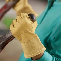 Women's Leather Gauntlet Gardening Gloves $39.50