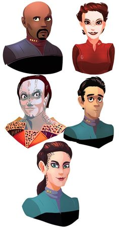 reeeaaaaally laggin' behind on stuff  D': so i thought i'd upload some doodles from the past couple weeks for the sake of showing signs of life  :/ these were so fun to do, but omg i will. Watch Star Trek, Star Trek Show, Star Trek Tv, Star Wars, Comic Character, Character Design, Star Trek Images, Star Trek Characters, Star Trek Universe