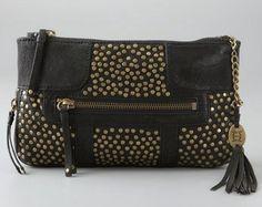 OLIVIA HARRIS BY JOY GRYSON | Studded chain clutch ($299)