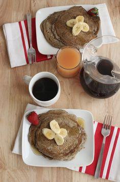(Gluten Free) Banana Buckwheat Pancakes - A BEAUTIFUL MESS