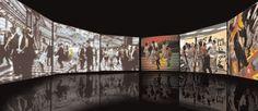 Studio Azzurro - Transatlantici - Scenari e sogni di mare - Galata museo del mare, Genova, 2004 - Salone delle feste, scenario - Vita di bordo, scenario