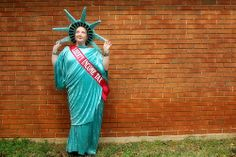 Day 76 - Rockin' the Lady Liberty Costume! Only for the love of family do we do crazy silly things. Its tax season and Uncle Ben has bought a few franchises of the Liberty Tax Business. I am now visiting corporate offices and reminding people to do t Funny Hilarious Costumes & Cosplays