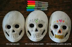 Laurie from gallamore west is helping her kids learn about El Dia de Los Muertos and other cultures. #Neonsharpie #pmedia
