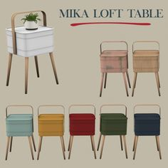 Leo Sims - Mika loft table for The Sims 4