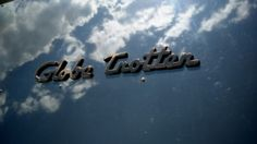 Airstream Globe Trotter emblem or is it a flying cloud...globe trotter script decal