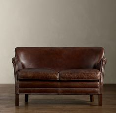 Professor's Leather Double Chair With Nailheads