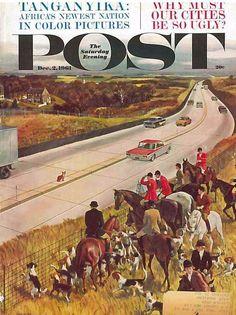The Saturday Evening Post December 2 1961 John Falter Vintage Americana Art