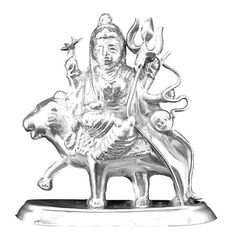 Jpearls Pure Silver Holy Durga Idol | Silver Statues / Murtis of Indian Gods