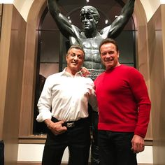 "529k Likes, 5,030 Comments - Sly Stallone (@officialslystallone) on Instagram: ""Well look who drop by on Christmas! @schwarzenegger always fills the room with positive energy!"""