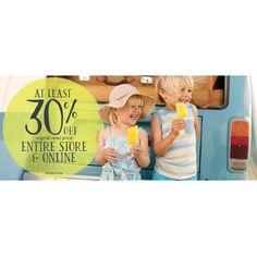 Bargain - At Least 30% Off - Original Retail Price Items @ Pumpkin Patch