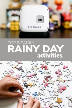 Just because it's raining outside, doesn't mean we can't have fun indoors, as a family.  Here are our top 5 family-friendly rainy day activities!
