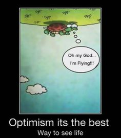 Optimism its the best way to see life