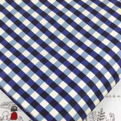 LONDON GINGHAM SMALL CHECK PRINT COTTON FABRIC