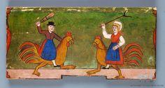 Slovenian Beehive Panel Panjske končnice | Slovenski etnografski muzej # folkart #rooster