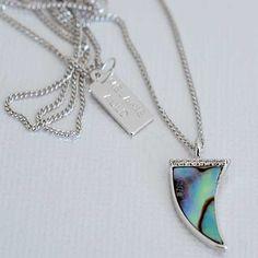 Melanie Auld Silver Abalone Tusk Necklace