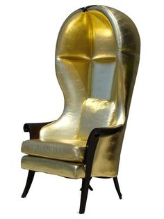Original Gold Bar Drag Race Chairs by Interior Illusions on Gilt Home Blue Dining Room Chairs, Beach Chairs, Cool Furniture, Furniture Design, Accent Furniture, Porter Chair, Fancy Chair, Cool Chairs, Stylish Chairs