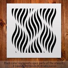 """Allover pattern stencil for DIY. Small Stencil (11"""" x 11"""")"""
