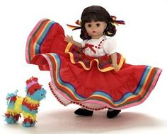 Madame Alexander Doll Company Mexico | Based on my Folklorico dress from when I was little.  One of my favorites I designed while there!